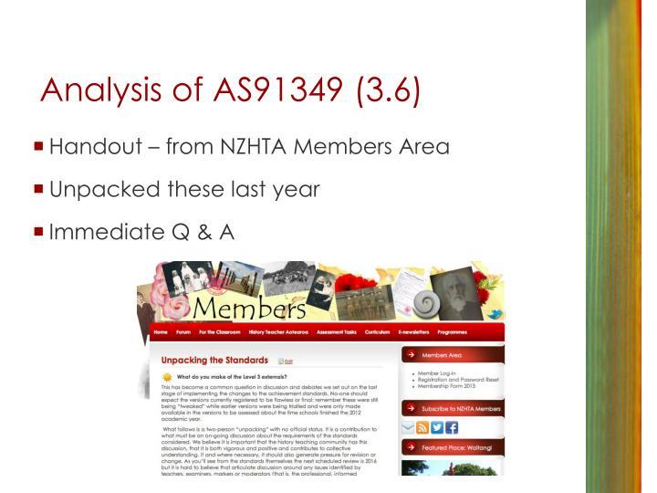 Analysis of AS91349 (3.6)