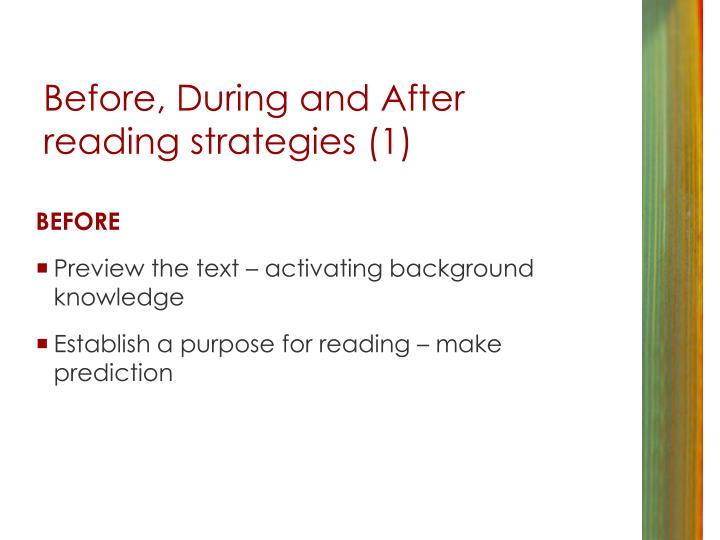 Before, During and After reading strategies (1)