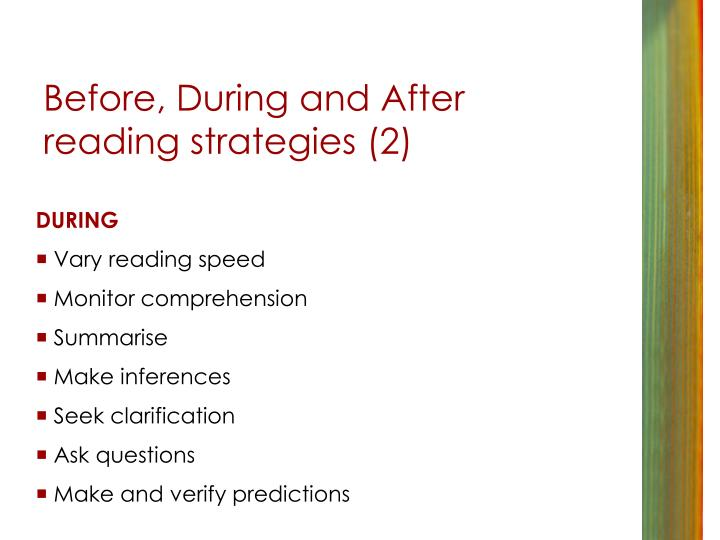 Before, During and After reading strategies (2)