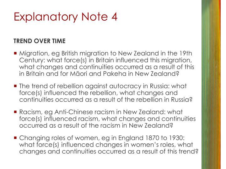 Explanatory Note 4