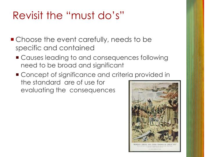 """Revisit the """"must do's"""""""