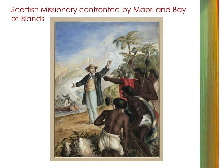 Scottish Missionary confronted by