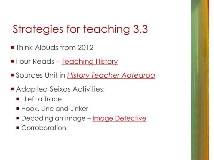 Strategies for teaching 3.3