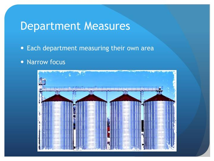 Department Measures