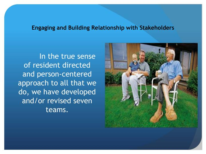 Engaging and Building Relationship with