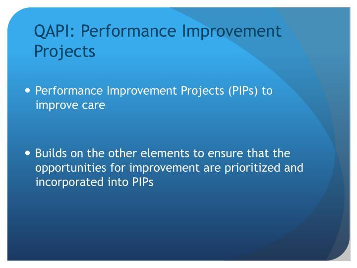 QAPI: Performance Improvement Projects
