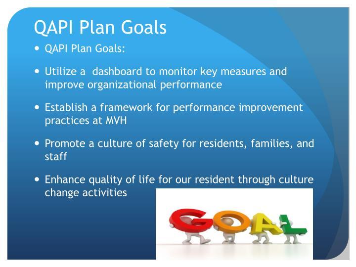 QAPI Plan Goals