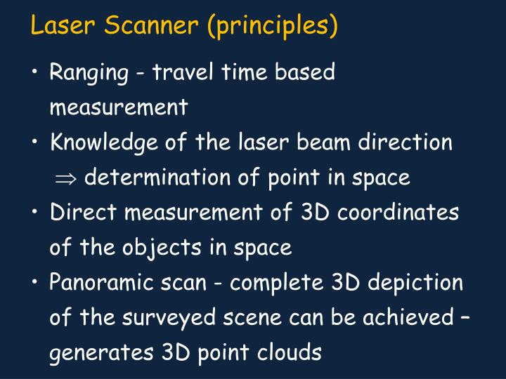 Ranging - travel time based measurement