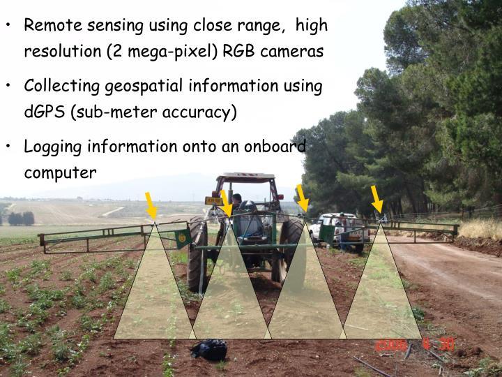 Remote sensing using close range,  high resolution (2 mega-pixel) RGB