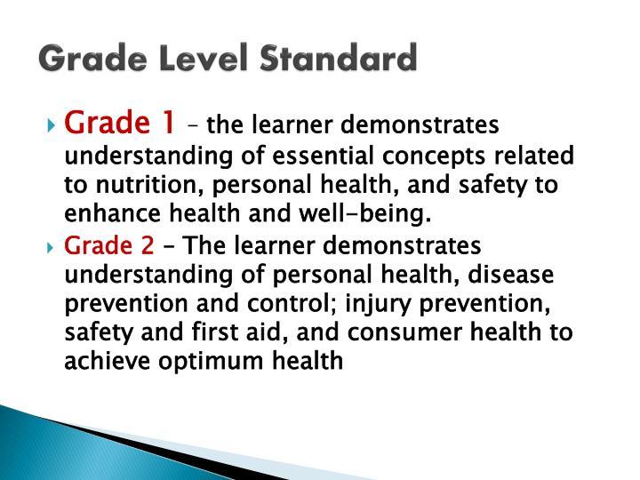 Grade Level Standard
