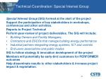 technical coordination special interest group