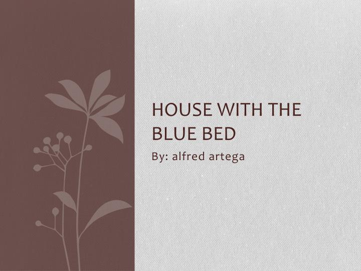 house with the blue bed n.
