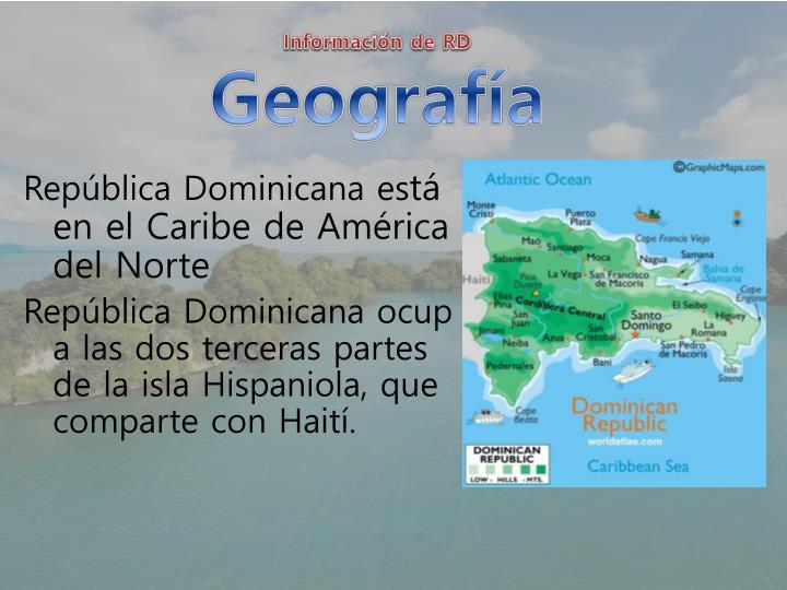 Informaci n de rd geograf a