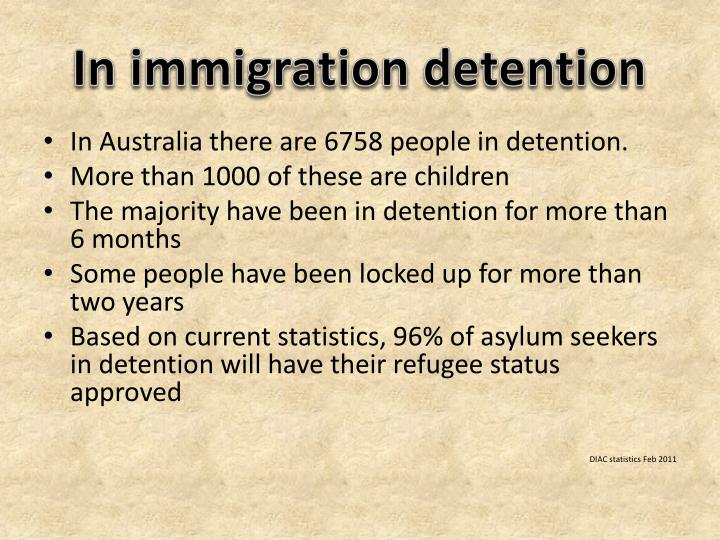 In immigration detention