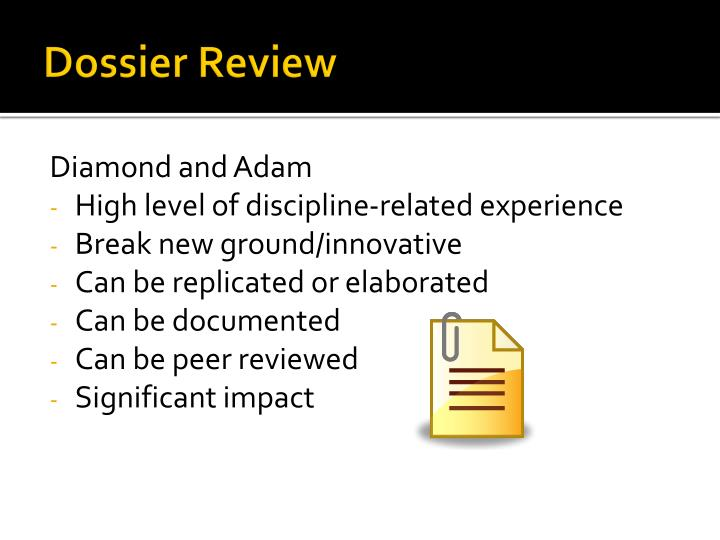 Dossier Review