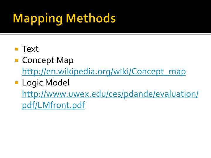 Mapping Methods