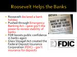 roosevelt helps the banks