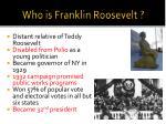 who is franklin roosevelt