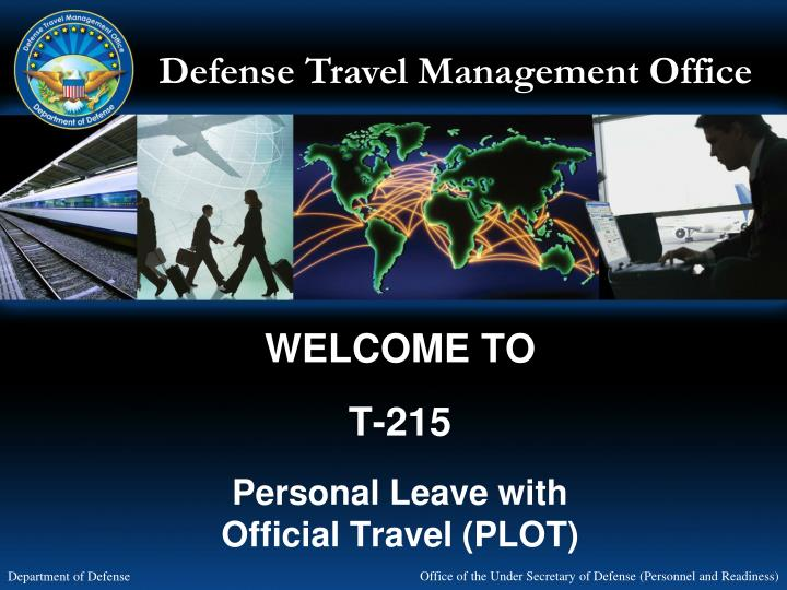 welcome to t 215 personal leave with official travel plot n.