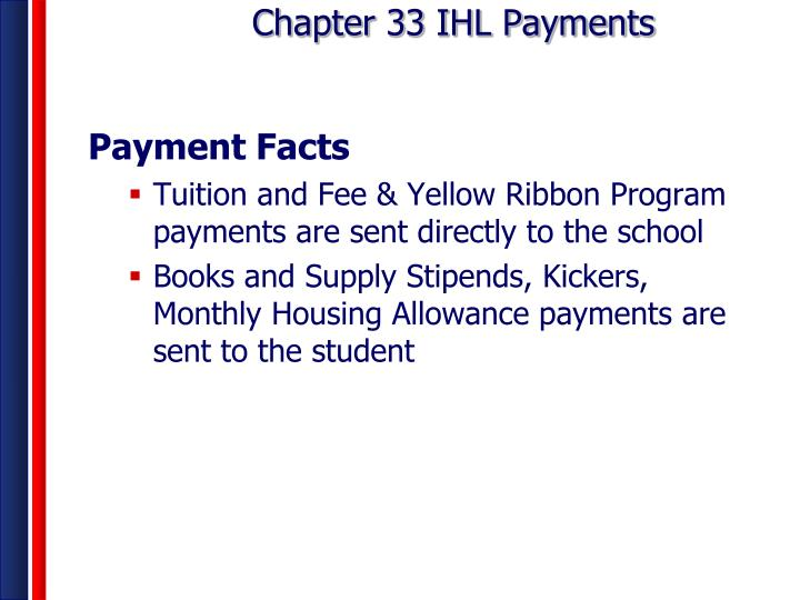 Chapter 33 ihl payments1