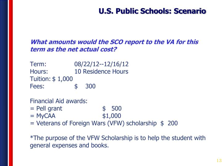 U.S. Public Schools: Scenario