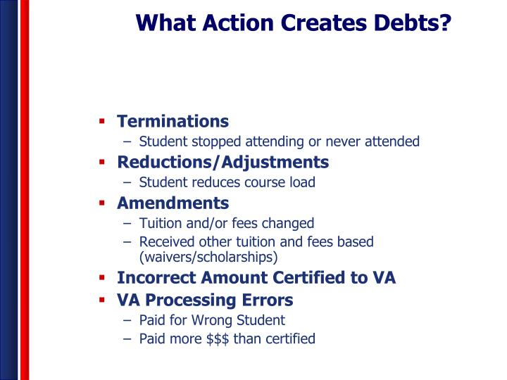 What Action Creates Debts?