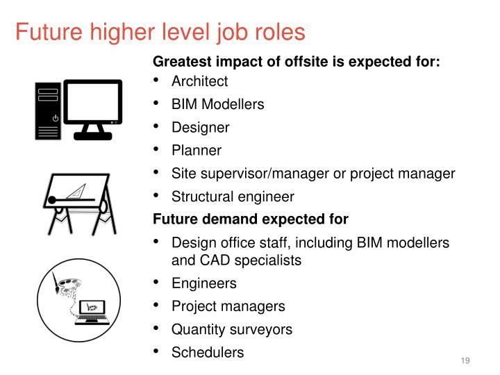 Future higher level job roles