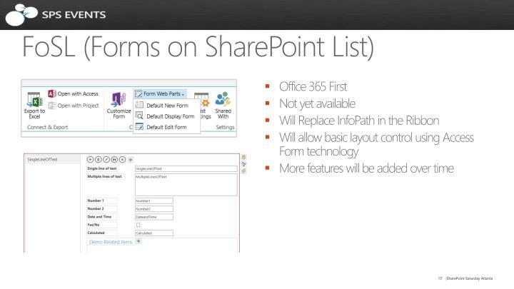 FoSL (Forms on SharePoint List)