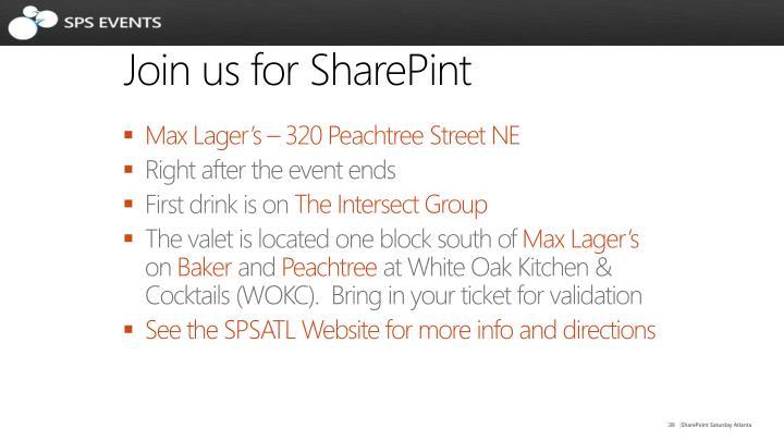 Join us for SharePint