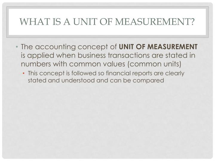 What is a Unit of Measurement?