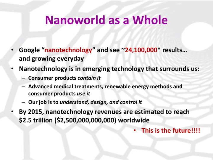 introduction to nanoworld Introduction to nanotechnology henrik bruus mic - department of micro and nanotechnology technical university of denmark lyngby, spring 2004.