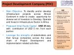 project development company pdc