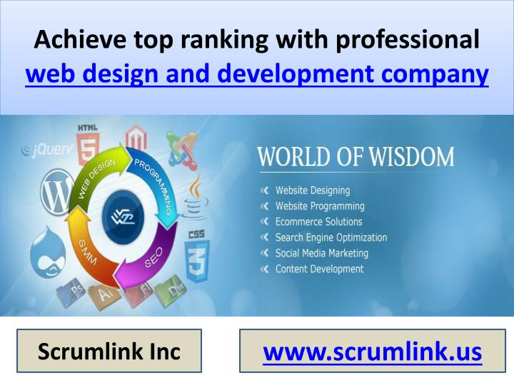 achieve top ranking with professional web design and development company n.