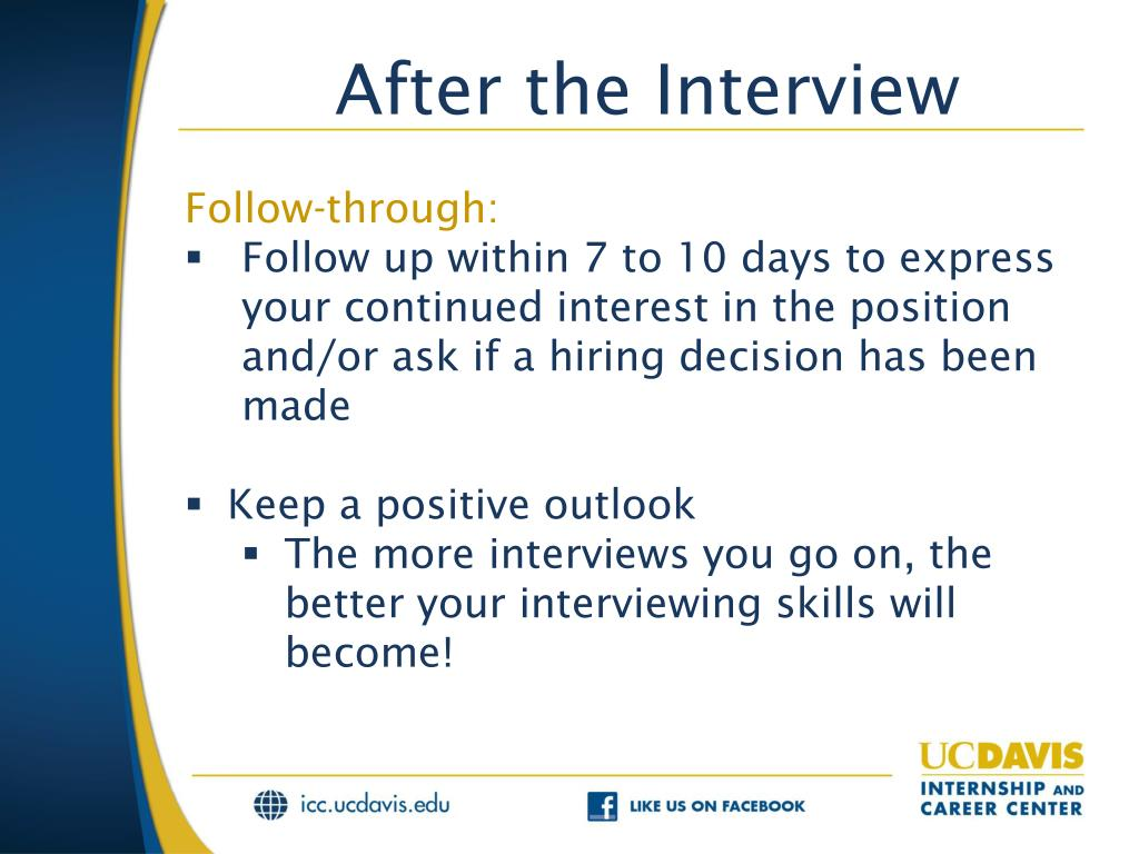 PPT - Interviewing and Negotiating PowerPoint Presentation