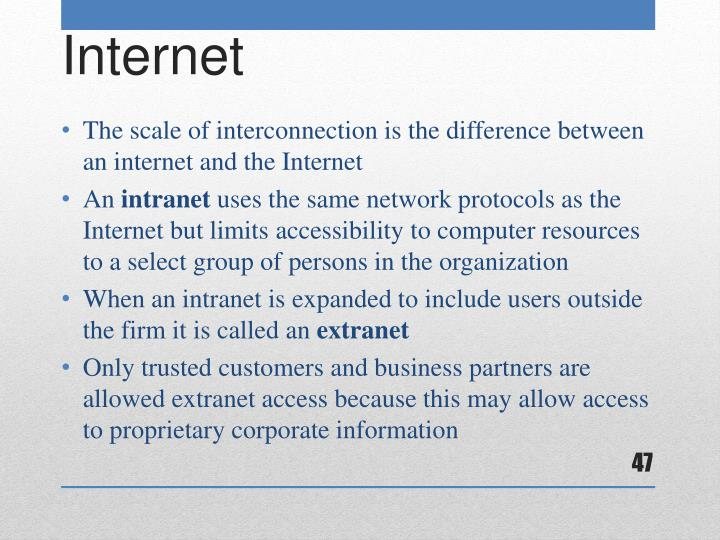 The scale of interconnection is the difference between an internet and the Internet