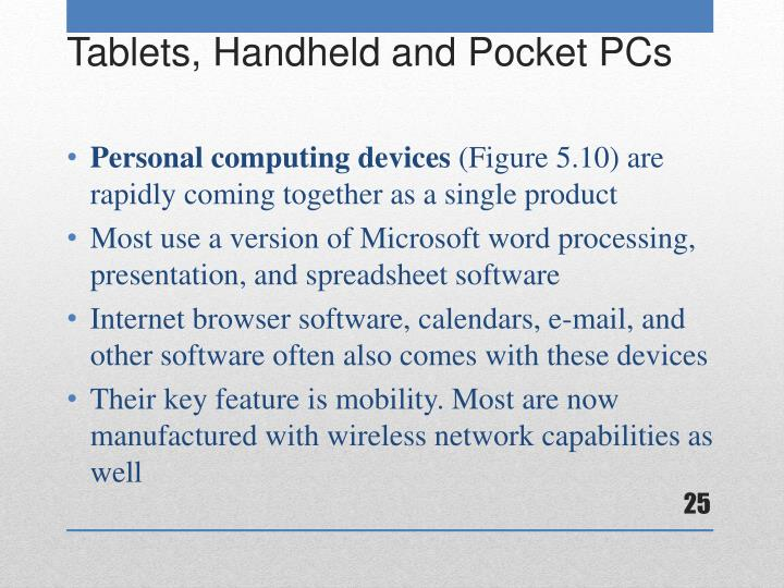 Personal computing devices