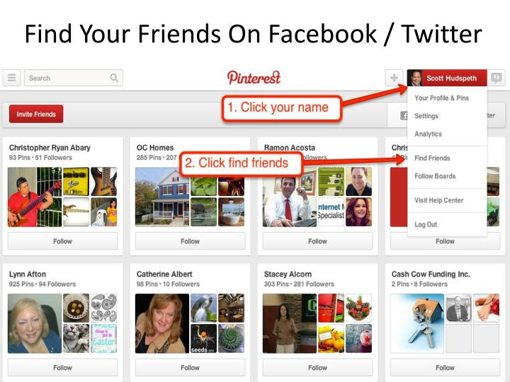 Find Your Friends On Facebook / Twitter