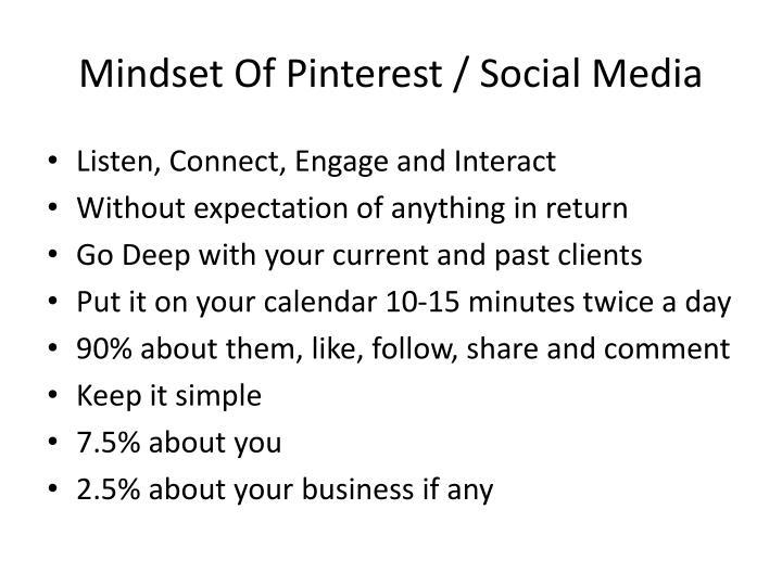 Mindset Of Pinterest / Social Media