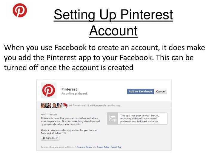Setting Up Pinterest Account