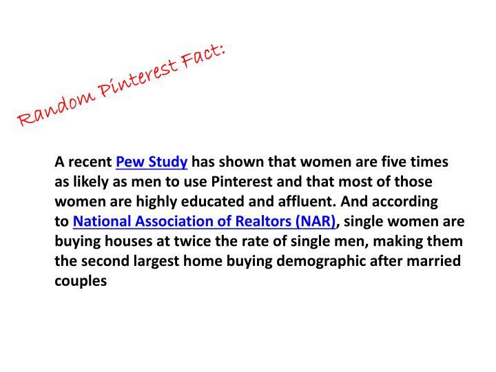 Random Pinterest Fact: