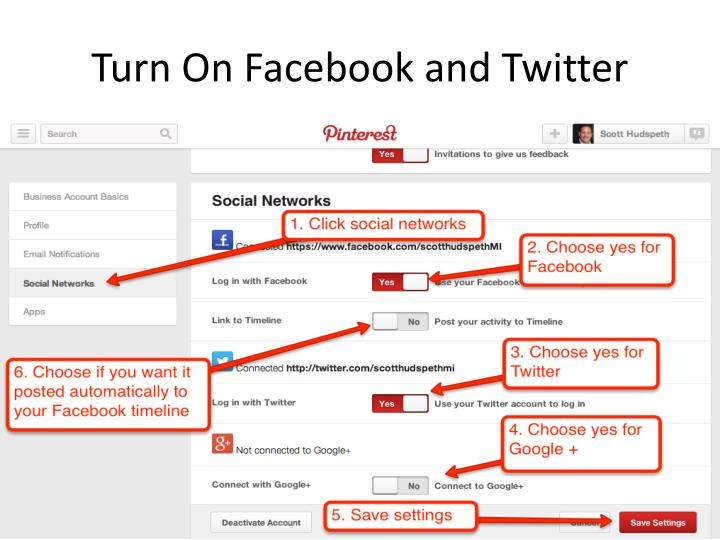 Turn On Facebook and Twitter