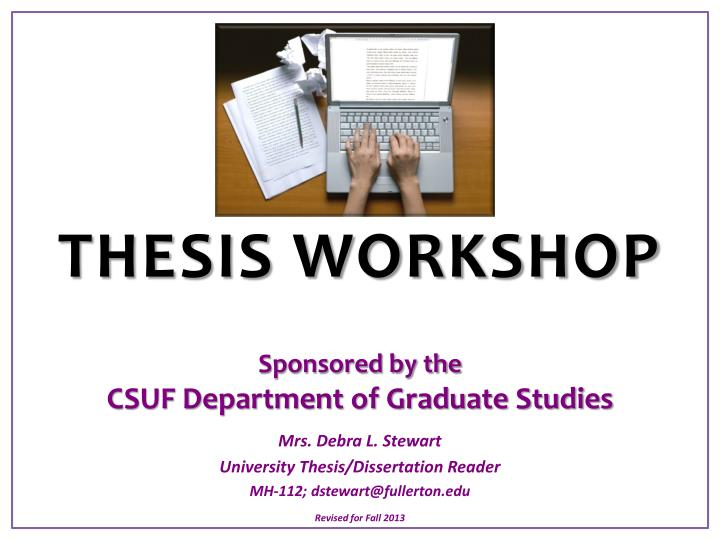 csuf thesis deadline