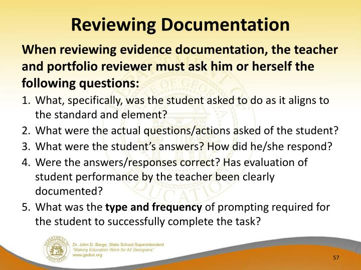 Reviewing Documentation