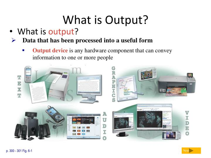 what is output n.