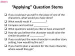 applying question stems