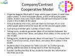compare contrast cooperative model