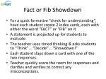 fact or fib showdown