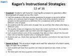 kagan s instructional strategies 12 of 16