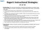kagan s instructional strategies 14 of 16