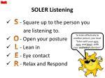 soler listening